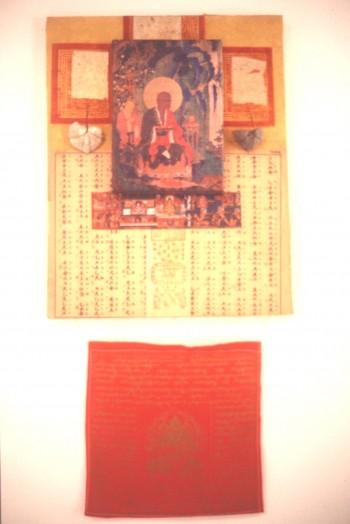 Single Tibetan Tragedy Buddha in the Garden